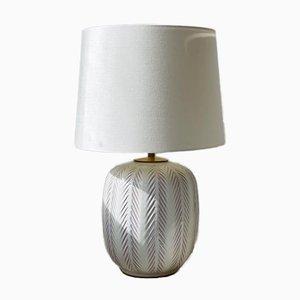Fishbone Pattern Ceramic Table Lamp by Anna-Lisa Thomson for Upsala-Ekeby, 1940s