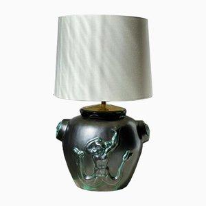 Ceramic Table Lamp by Einar Luterkort for Upsala-Ekeby, 1940s
