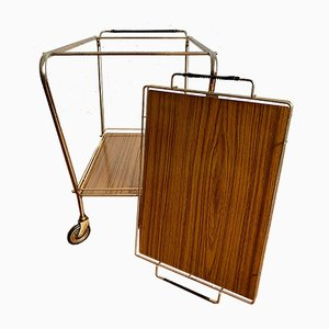 Mid-Century Bar Trolley Serving Cart, 1950s