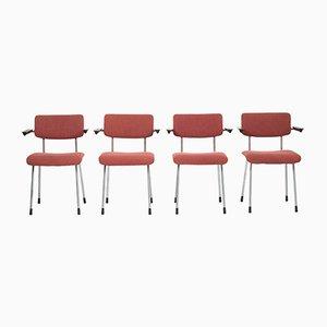 Modell 1235 Armlehnstühle von André Cordemeyer für Gispen, 1950er, 4er Set