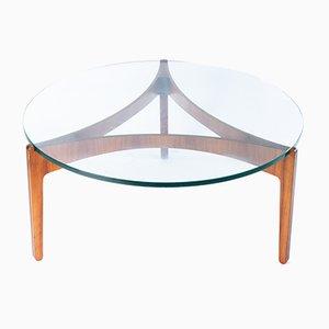 Mesa de centro de palisandro de Sven Ellekaer, años 60