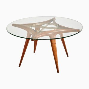 Vintage Round Coffee Table by Gio Ponti, 1940s