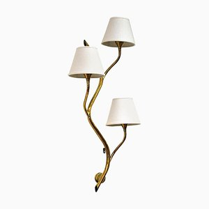 Mid-Century Norwegian Brass Branch Wall Light from Astra, 1950s