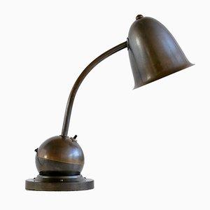 Lámpara de mesa Art Déco con pantalla de campana de Willem Hendrik Gispen para KMD Daalderop, años 30