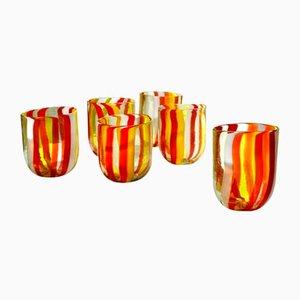Bicchieri vintage in vetro di Murano di Vestidello Luke per Ribes, 2004, set di 6