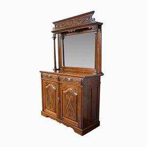 Vintage Art Nouveau Style Walnut Dresser, 1980s