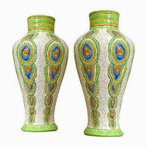 Art Deco Vases by Maurice Dufréne, 1930s, Set of 2