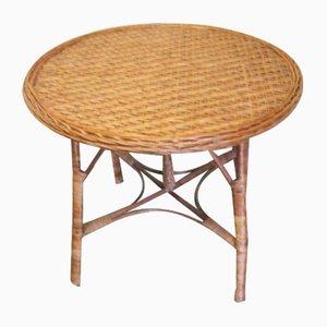 Mesa de jardín de ratán, años 30