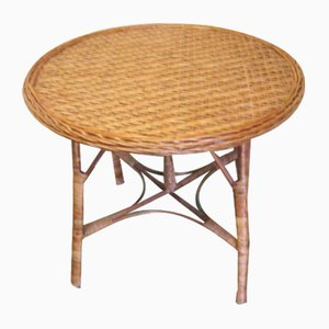 Rattan Garden Table, 1930s