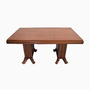 Table de Salle à Manger Vintage Rectangulaire en Acajou Massif et Placage