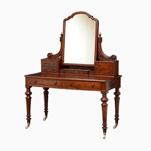 Victorian Figured Mahogany Dressing Table