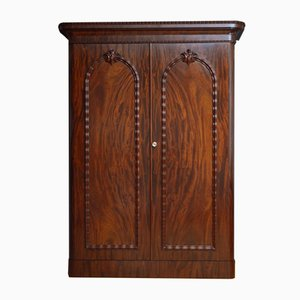 Large Victorian Mahogany 2-Door Wardrobe