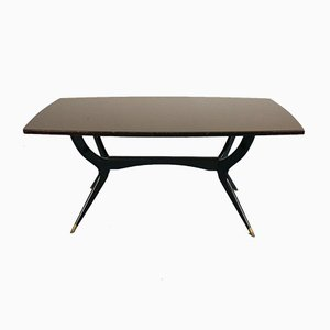 Vintage Black Dining Table in the Style of Ico Luisa Parisi, 1960s