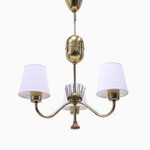 3-Light Ceiling Lamp from ASEA, 1950s