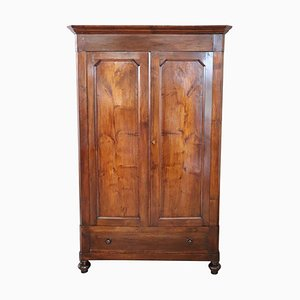 Antique Solid Walnut Wardrobe, 1850s