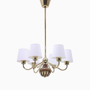6-Leuchten Deckenlampe ASEA, 1950er