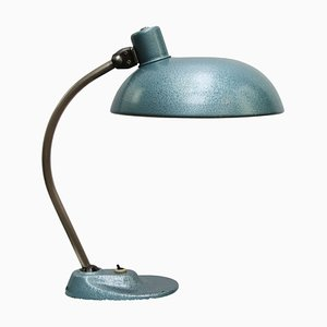 Vintage Industrial Blue Metal Table Lamp