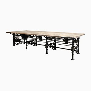 Industrial Dining Table from Singer, 1900s