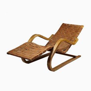 Chaise Lounge finlandés modelo 39 de Alvar Aalto para Artek, años 30