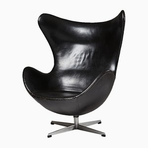 Danish Egg Chair by Arne Jacobsen for Fritz Hansen, 1950s