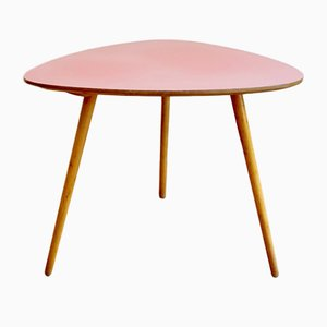 Mid-Century Hungarian Pink and Beech Coffee Table with Formica Top