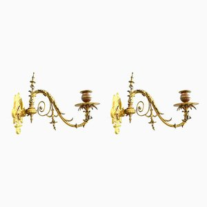 Antique Empire Style Piano Candleholders, 1900s, Set of 2