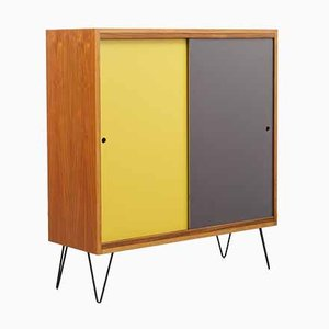 Walnut Highboard with Reversible Doors, 1960s