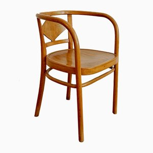 Vintage Light Brown Armchair from Gebrüder Thonet Vienna GmbH