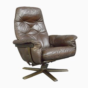 Leather Lounge Chair from G Mobel, 1960s