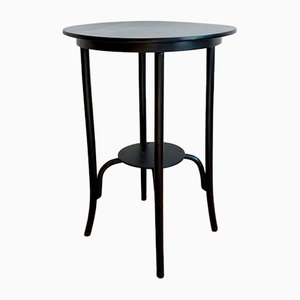 Vintage Hungarian Black Bentwood Side Table from Debreceni Hajlitott Butorgyar