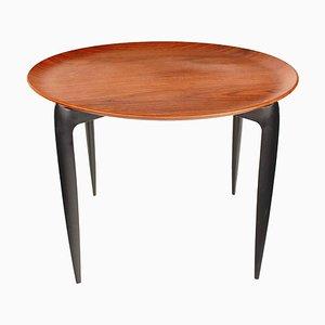 Table d'Appoint Pliante en Teck et Bois Noirci par Svend Åge Willumsen & H. Engholm pour Fritz Hansen, Danemark, 1950s
