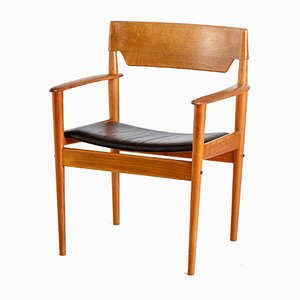 Vintage Modell PJ4-2 Armlehnstuhl von Grete Jalk für Poul Jeppesens Møbelfabrik, 1960er