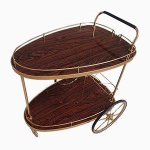 Brass and Kelko Wood Tea Trolley, 1950s