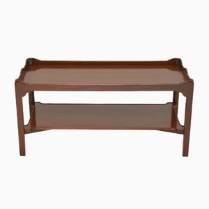 Antique Chippendale Style Mahogany Coffee Table, 1930s