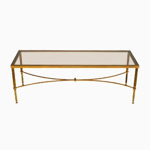 Italian Brass and Glass Coffee Table, 1960s