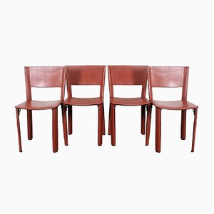 Model S91 Dining Chairs by Giancarlo Vegni for Fasem, 1990s, Set of 4