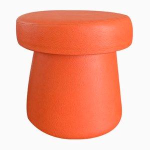 Orangenfarbener Vintage Fußhocker in Pilzform, 1960er