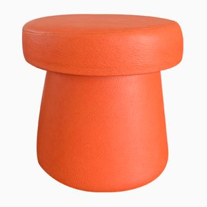 Vintage Orange Mushroom-Shaped Ottoman, 1960s