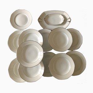 Set da pranzo Art Déco in porcellana di Limoges di Jean Boyer, anni '20, set di 15
