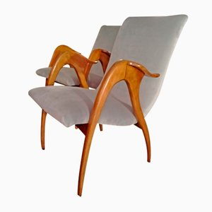 Mid-Century Lounge Chairs from Malatesta e Mason, Set of 2