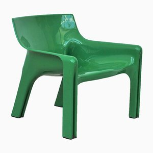 Green Vicario Lounge Chairs by Vico Magistretti for Artemide, 1970s, Set of 2