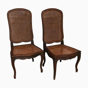 Wicker Side Chairs, Set of 2