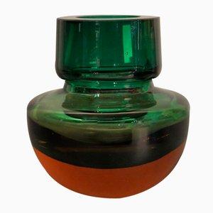 Murano Glass Sommerso Vase, 1950s