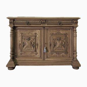 Antiker französischer Schrank aus rohem Holz