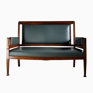 Art Nouveau Green and Brown Sofa from H. Pander & Zn.