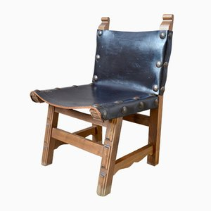 Sedie da bambino rustiche, anni '40, set di 4