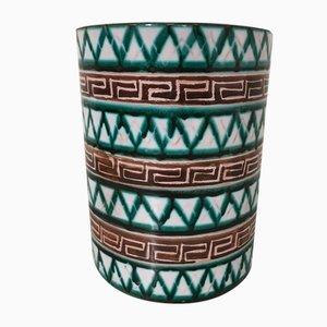 Keramik Zylinder Vase von Robert Picault, 1950er