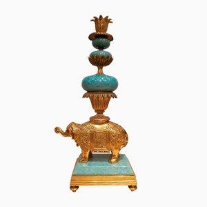 Französische Vintage Kerzenständer aus Messing in Messing in Messingfassung, 2er Set