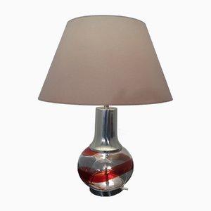 Italienische Glas Stehlampe, 1970er