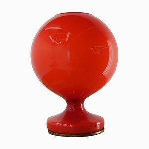 Lámpara de mesa Mid-Century de vidrio rojo de Stepan Tabera para OPP Jihlava, años 70